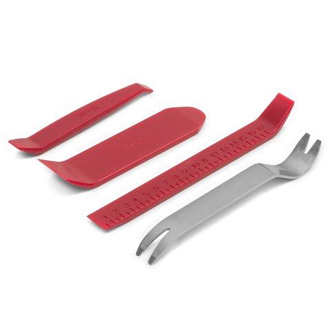 Набір інструментів для знімання обшивки 4 шт – поліуретан/сталь Прев'ю 6