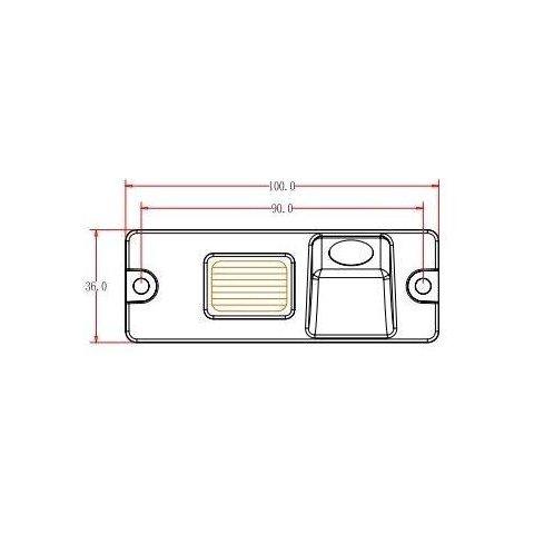 Cámara de visión trasera de coche para Mitsubishi Pajero Vista previa  4