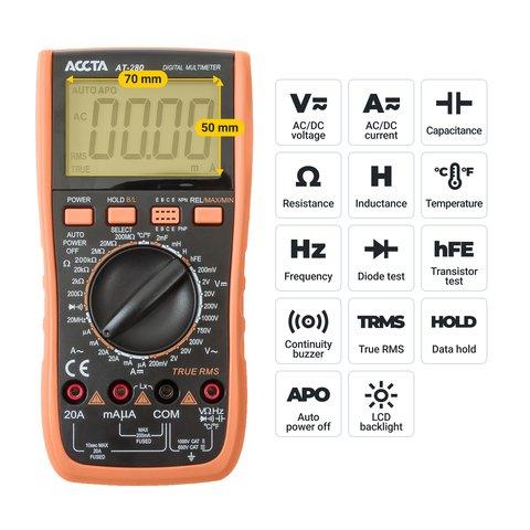 Цифровий мультиметр Accta AT-280 Прев'ю 2
